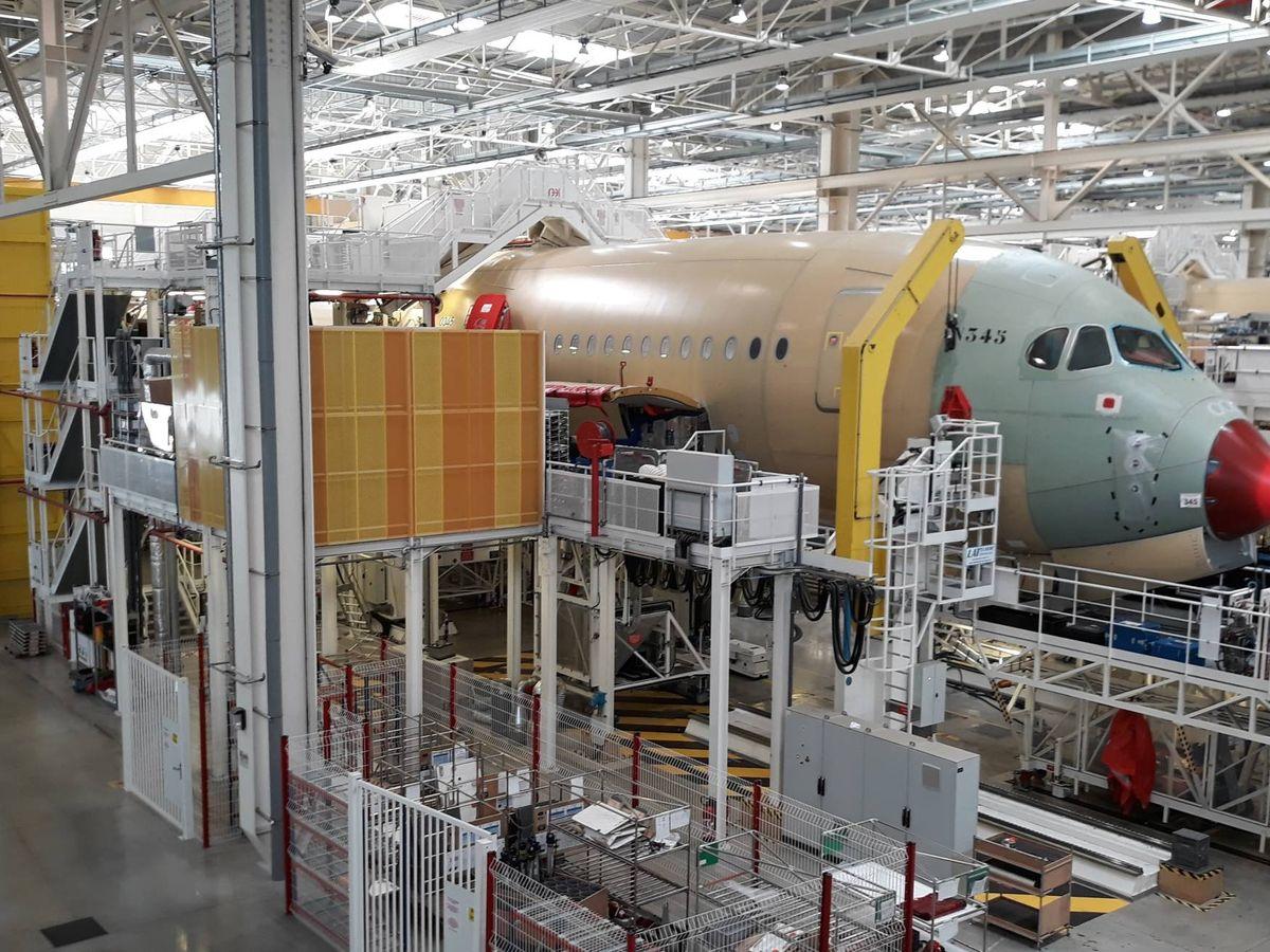 Foto: Fábrica del A320 en Hamburgo. (C.P.)