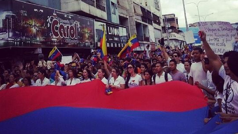 Una imagen de las protestas publicada por Beatriz Abianchi en Instagram.