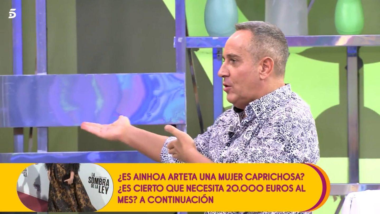 Víctor Sandoval, en 'Sálvame'. (Mediaset)