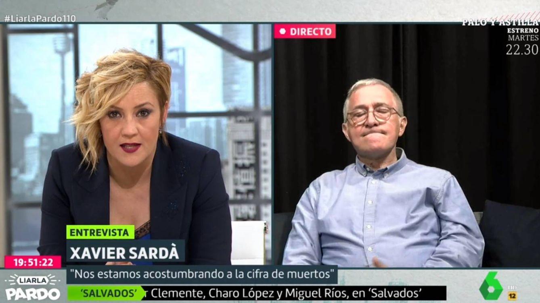 El tremendo zasca de Cristina Pardo a Xavier Sardà por su sueldo en 'Crónicas marcianas'