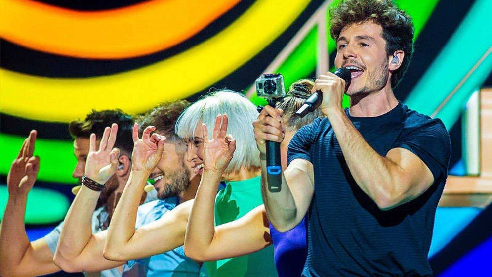 Foto: Miki Núñez, en el Festival de Eurovisión 2019. (RTVE)
