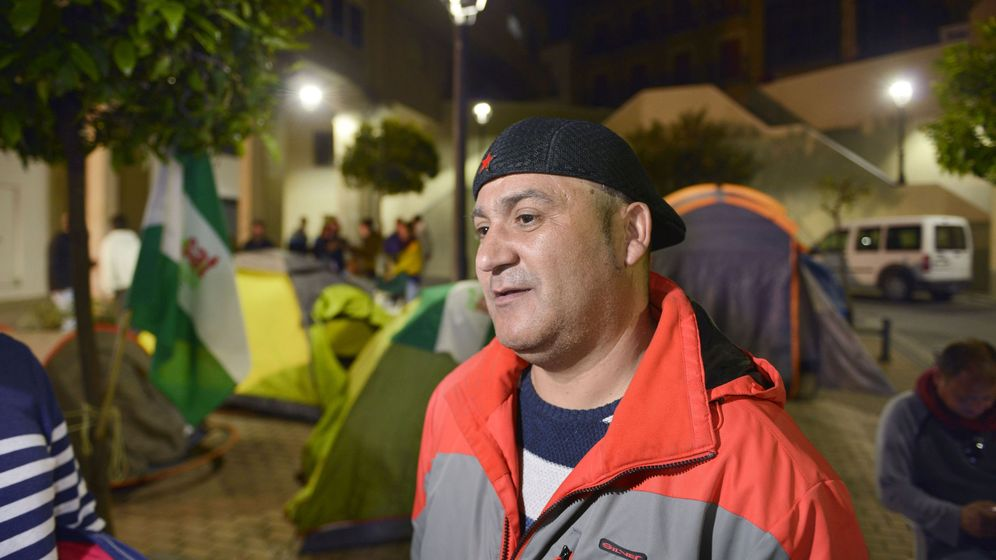 Foto: El ya exconcejal de Jaén en Común (JeC) Andrés Bódalo, horas antes de su detención. (EFE)