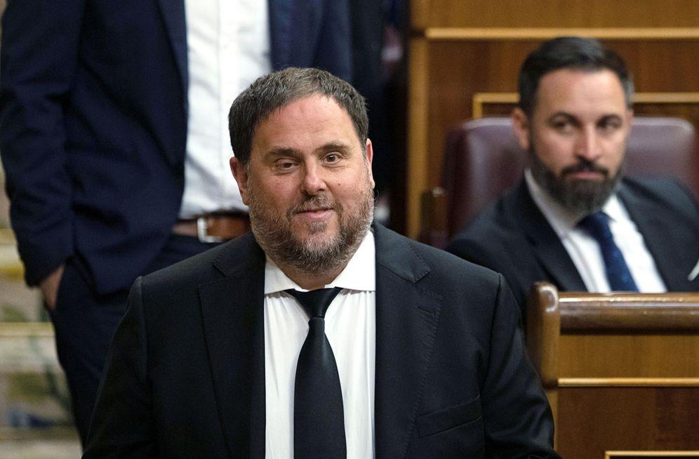 Foto: Oriol Junqueras, presidente de ERC, el pasado 21 de mayo, en la sesión constitutiva del Congreso. (Reuters).