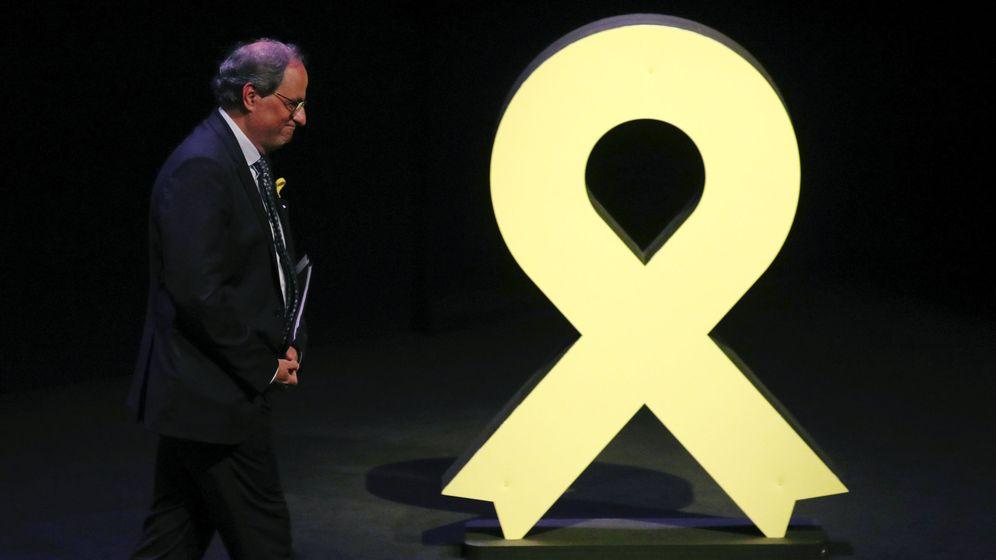 Foto: Quim Torra, este martes, en la conferencia política 'El nostre moment'. (Reuters)