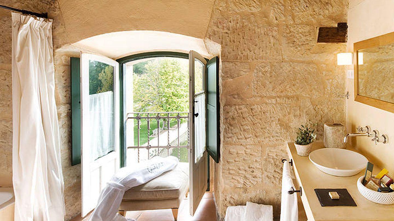 La Hacienda Zorita Wine Hotel & Spa por dentro. Y es el baño.