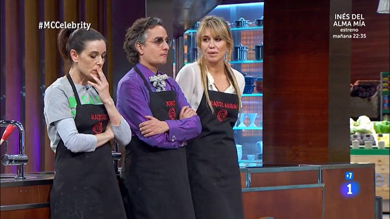 Raquel Sánchez Silva, Josie y Raquel Meroño, en 'Masterchef Celebrity'. (TVE)