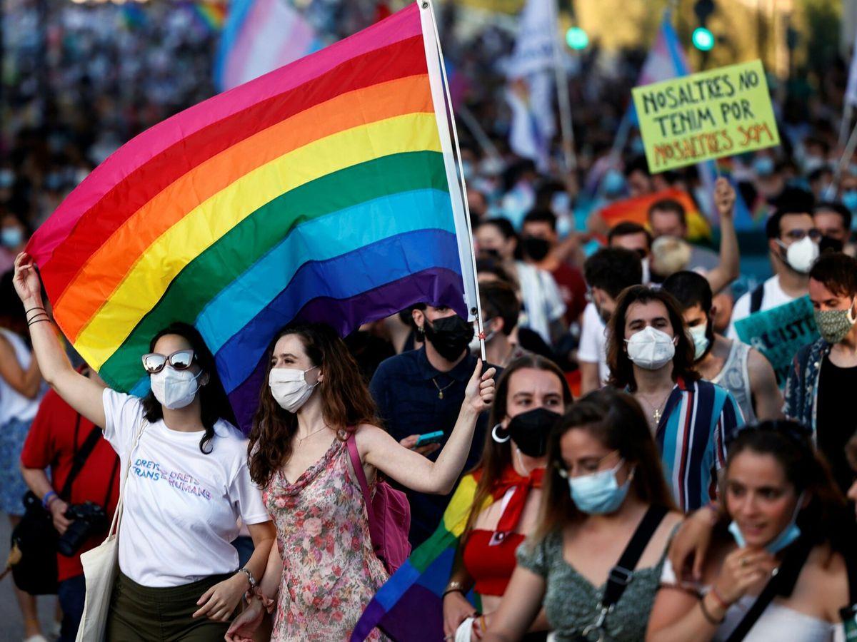 Foto: Manifestación del Orgullo en Valencia. (EFE)