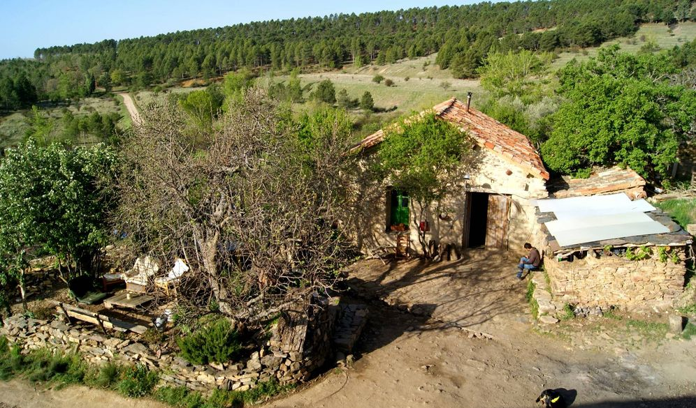 Foto: Imagen de la casa principal reconstruida en Fraguas. (Colectivo Fraguas)
