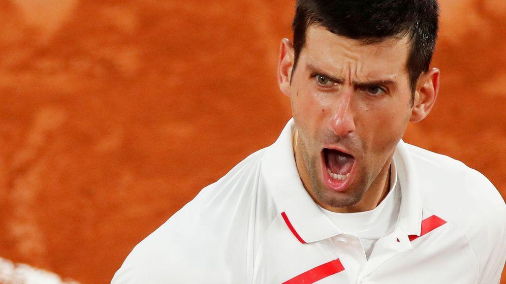 Foto: Djokovic, durante el partido de cuartos de final. (Reuters)