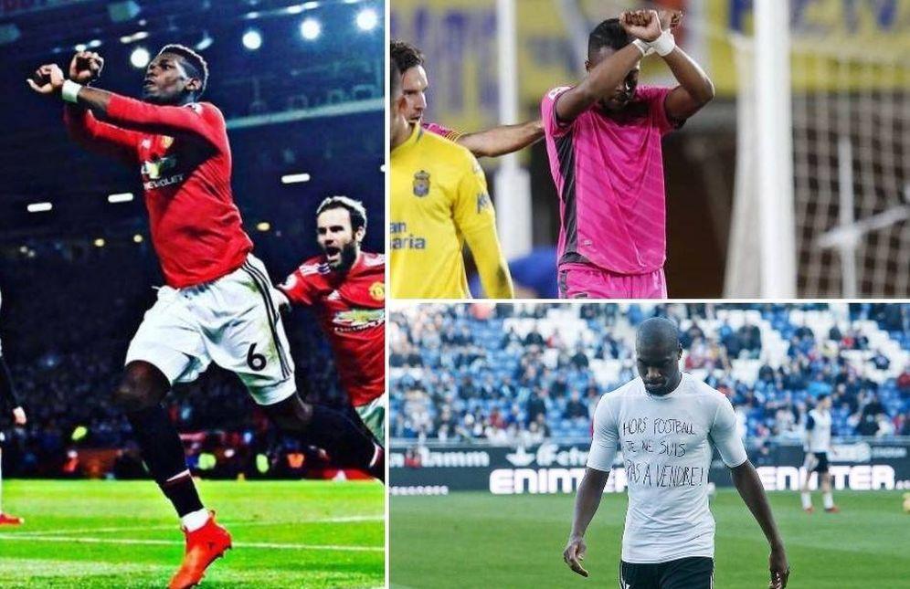Foto: Varios futbolistas denuncian la venta de esclavos en Libia.