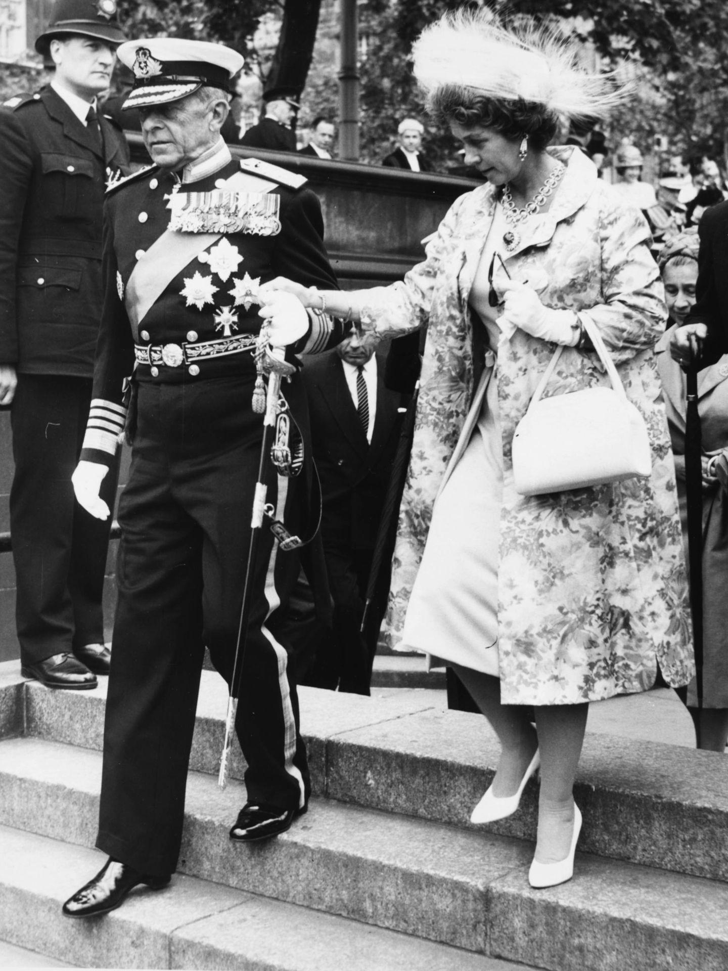 Pablo y Federica de Grecia, en 1963. (Getty)