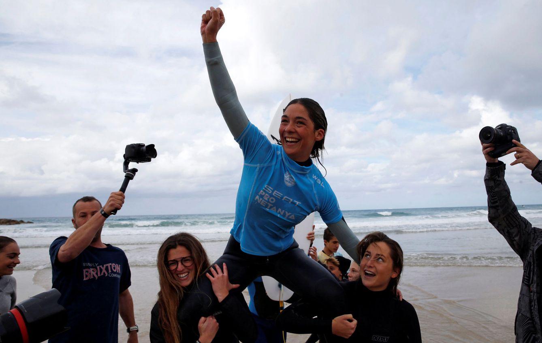 Foto: Garazi Sánchez celebra su victoria en el Seat Pro Netanya de Israel el pasado 26 de enero (Baz Ratner/Reuters)