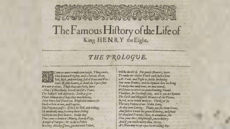 ¿Quién más escribió 'Enrique VIII'? La IA confirma que Shakespeare no lo hizo solo