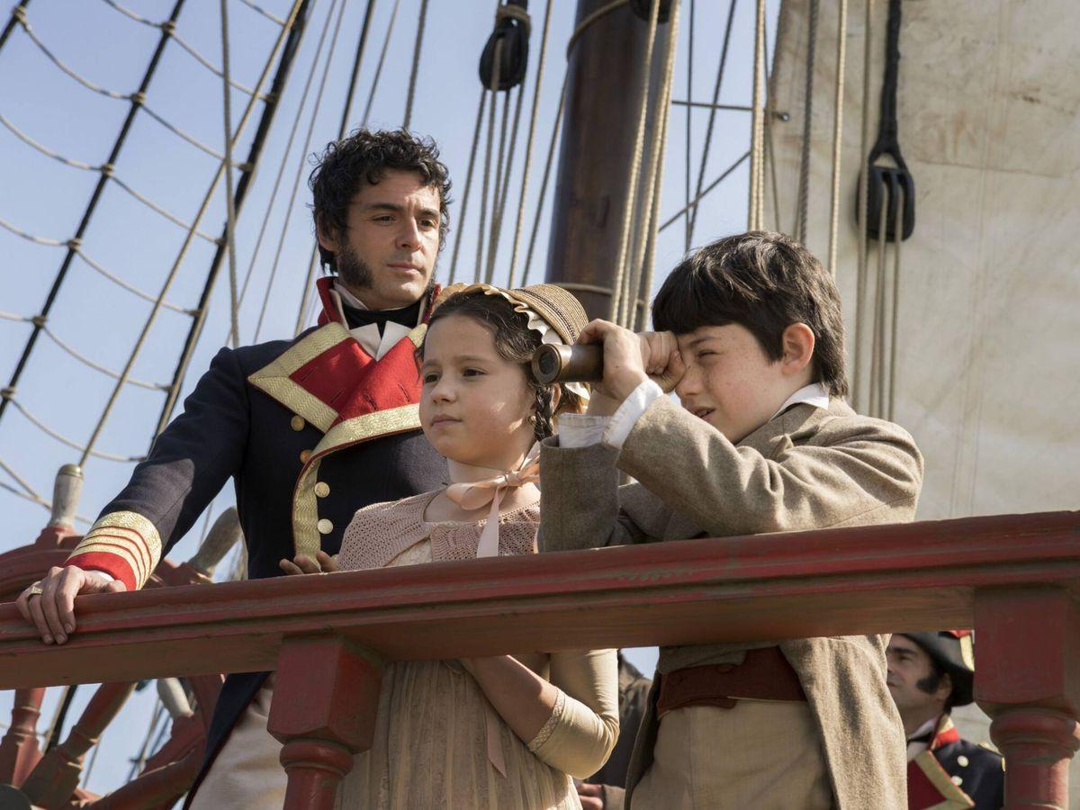 Foto: La serie esta ambientada en 1804, poco tiempo despues de que España empezase a usar la bandera tal y como la conocemos. (Movistar)