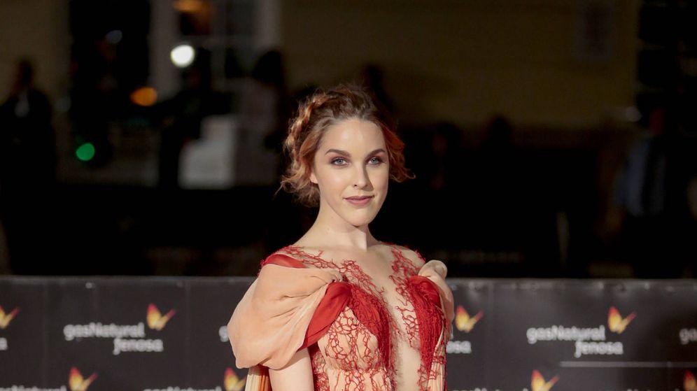 Foto: Amarna Miller en la alfombra roja del Festival de Málaga