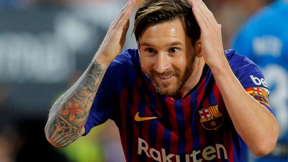 Foto: Leo Messi celebra un gol con el Barcelona. (Reuters)