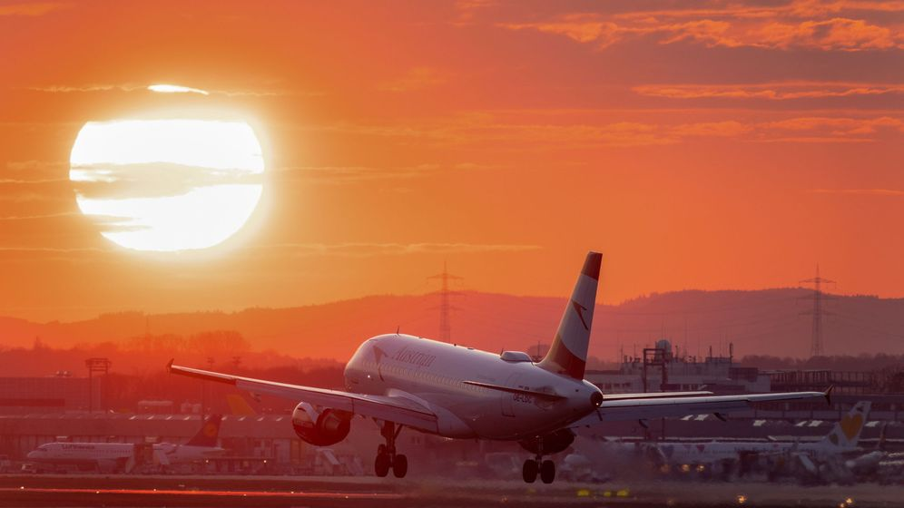 Foto: Un avión despega del aeropuerto de Frankfurt, Alemania. (EFE)