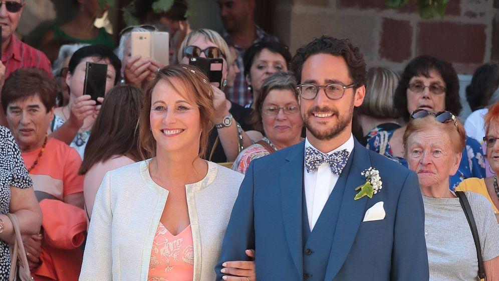 Foto: Segolène Royal y su hijo, Thomas Hollande. (Cordon)