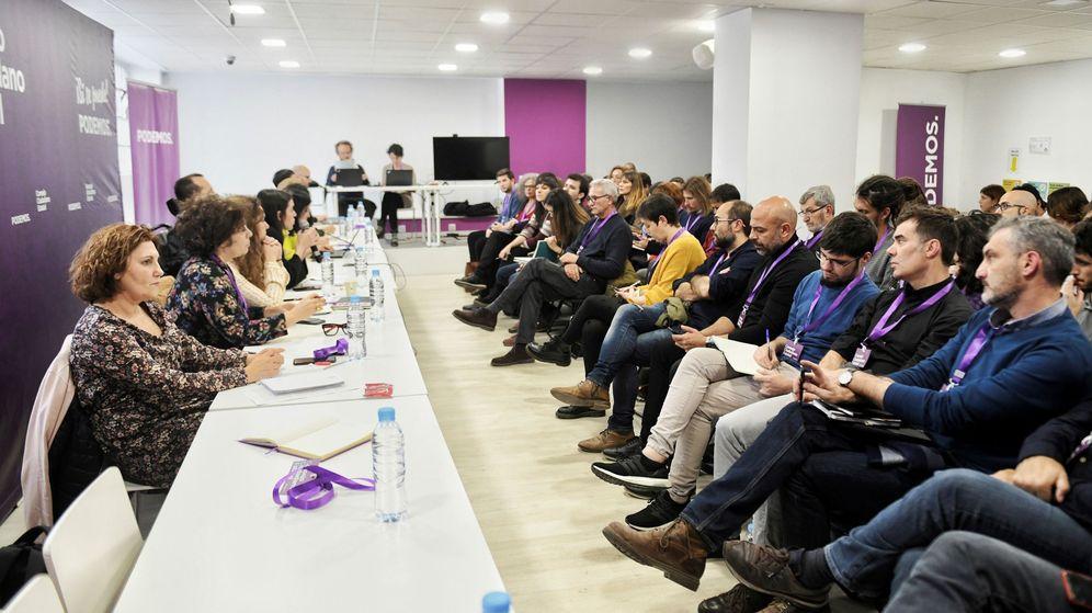 Foto: Reunión del consejo estatal de Podemos convocada este miércoles de forma urgente para abordar la crisis interna tras el lanzamiento de Más Madrid. (Dani Gago)