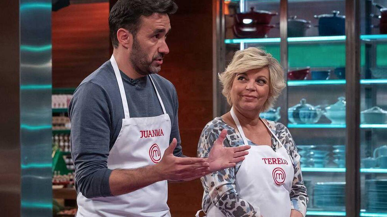 Juanma y Terelu, en 'MasterChef Celebrity'. (TVE)