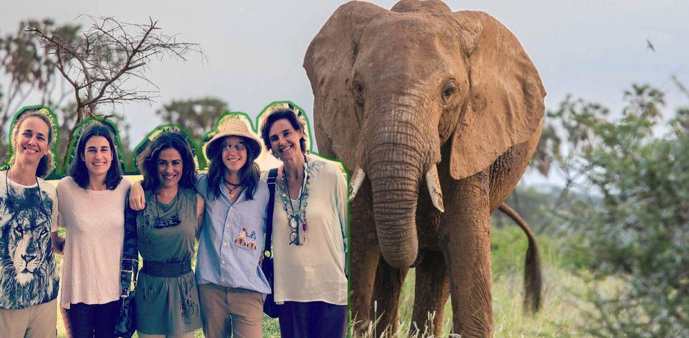 Foto: Blanca Suelves y sus amigas en un fotomontaje realizado en Vanitatis.