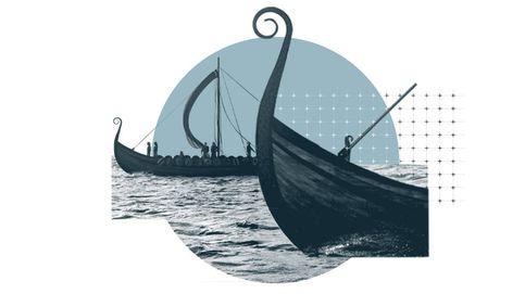 Súbete al barco vikingo