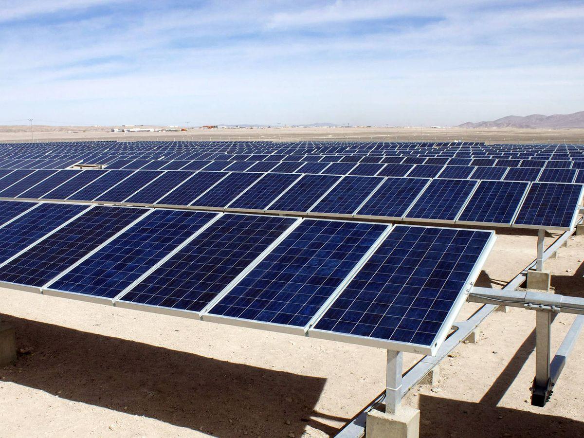 Foto: Plantas fotovoltaicas (EFE)