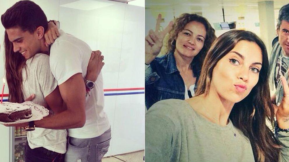 Marc Bartra sorprende a Melissa Jiménez por su cumpleaños