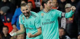 Post de La heroicidad del Real Madrid con Courtois en un córner y el rescatador Benzema