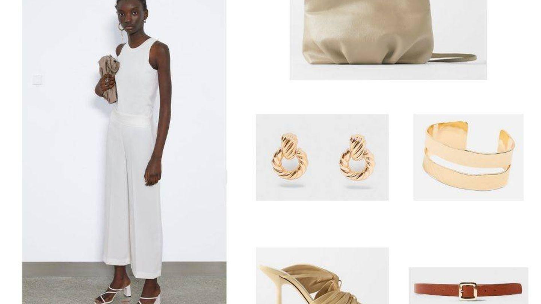 Hazte con el outfit de la modelo en Zara.  (Cortesía)