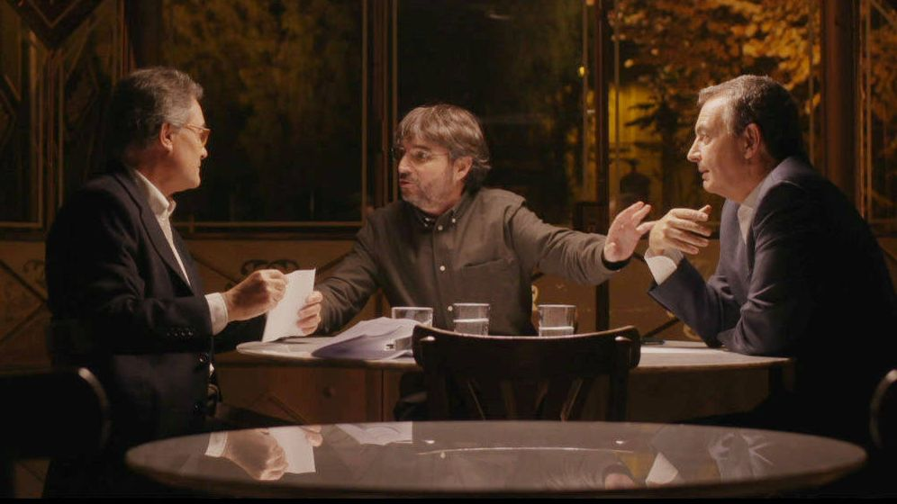 Foto: Artur Mas y José Luis Rodríguez Zapatero, en un momento del cara a cara conducido por Jordi Évole para 'Salvados' (La Sexta). (EC)