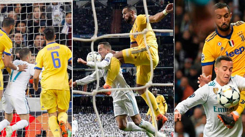 El penalti de Benatia a Lucas Vázquez.