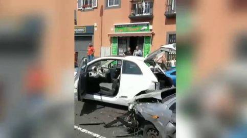 Colisión múltiple en Tenerife con siete coches