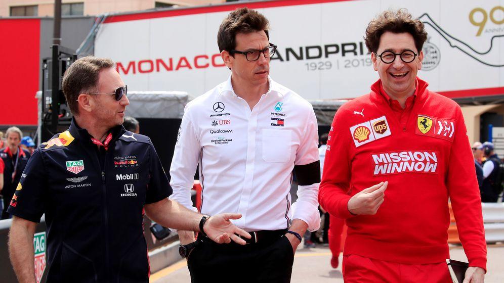 Foto: Christian Horner y especialmente Toto Wolff se han mostrado muy duros con Ferrari este fin de semana (REUTERS)