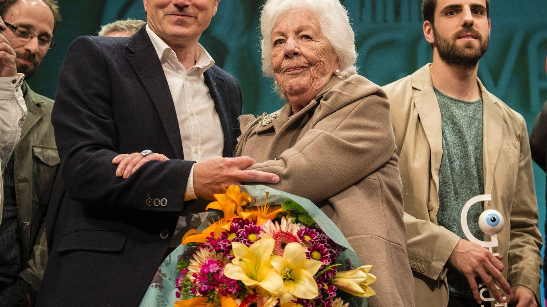 Menchu, durante la entrega del Premio Gava. (Limited Pictures)