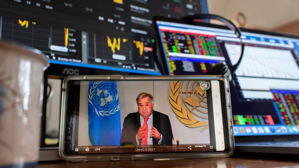 Foto: Fotografía cedida por la ONU donde aparece su secretario general, António Guterres. (EFE)