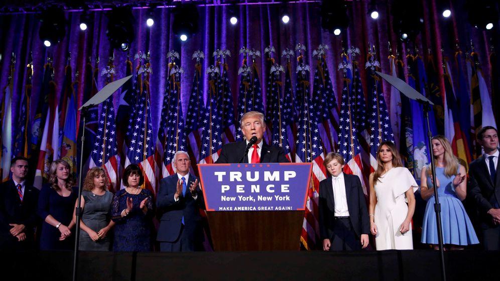 Foto: Donald Trump tras la victoria. (Reuters)