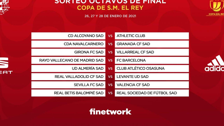 Partidos de los octavos de final de la Copa del Rey