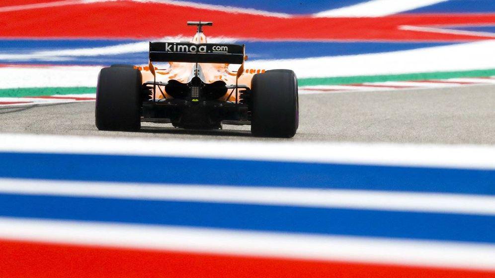 Foto: Fernando Alonso en los entrenamientos del GP de Estados Unidos (McLaren)