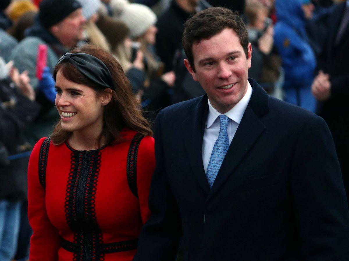 Foto: La princesa Eugenia y Jack Brooksbank, en una imagen de archivo. (Reuters)