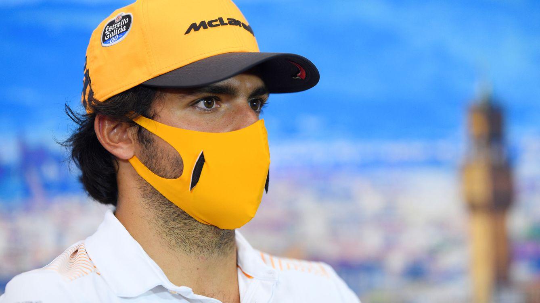Foto: Carlos Sainz en la rueda de prensa del Gran Premio de la Toscana. (Reuters)