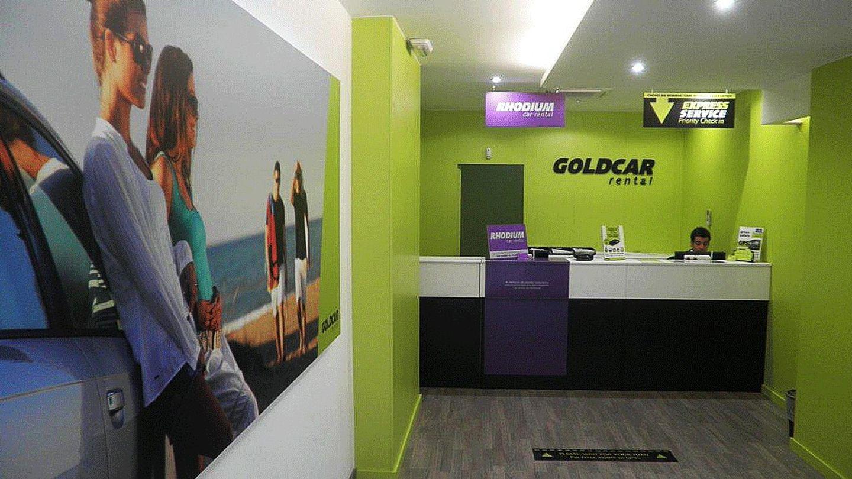 Puesto de Goldcar en la estación del AVE de Alicante. (Goldcar)
