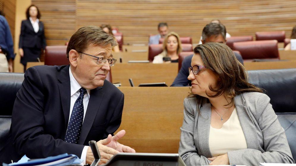 Foto: Ximo Puig y Mónica Oltra. (EFE)
