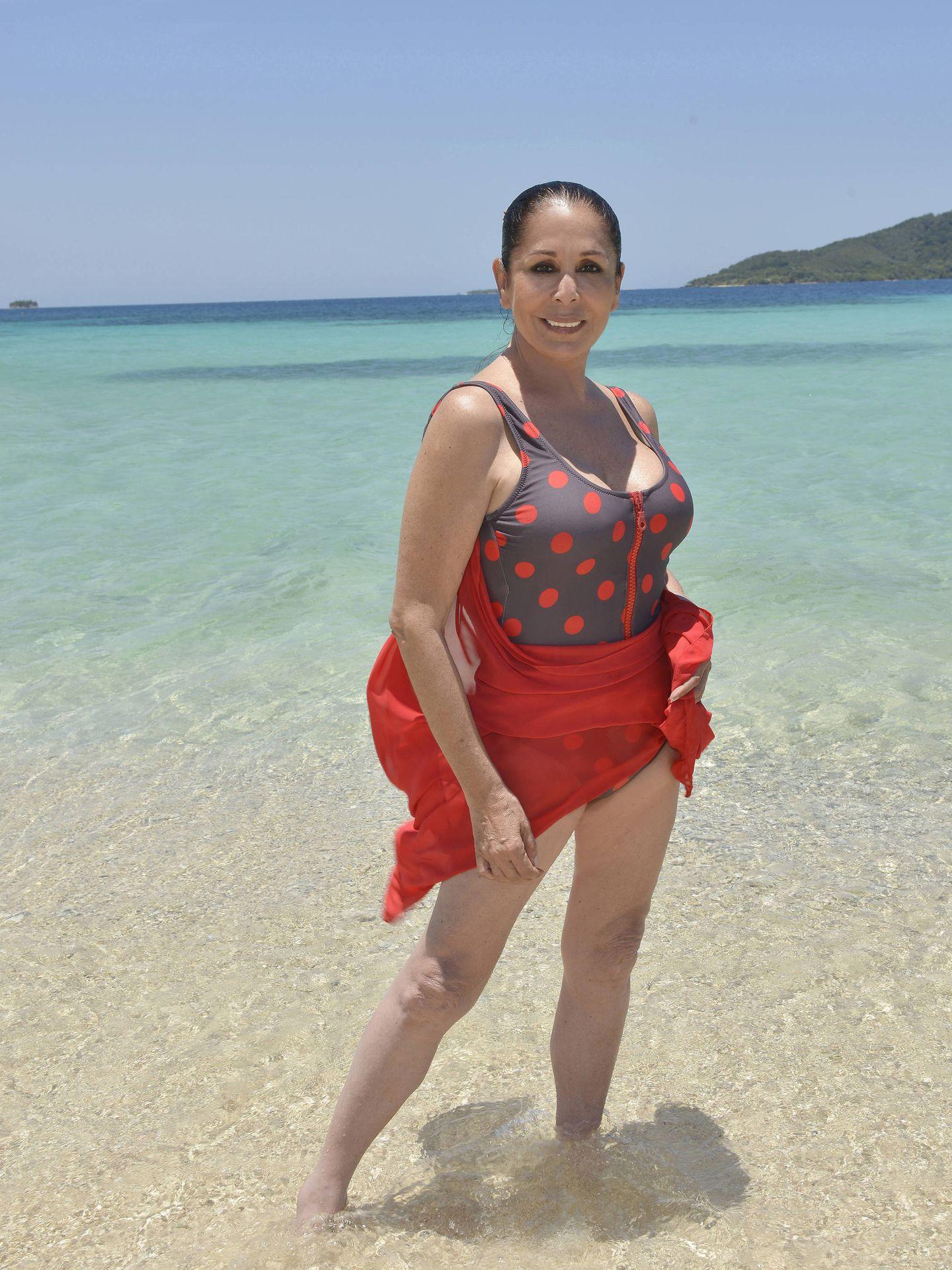 Isabel Pantoja en 'Supervivientes'. (Mediaset)