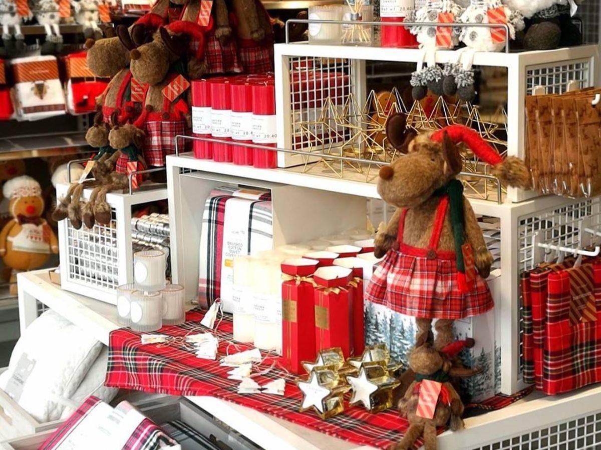 Foto: Decoración de Navidad de Primark. (Cortesía)