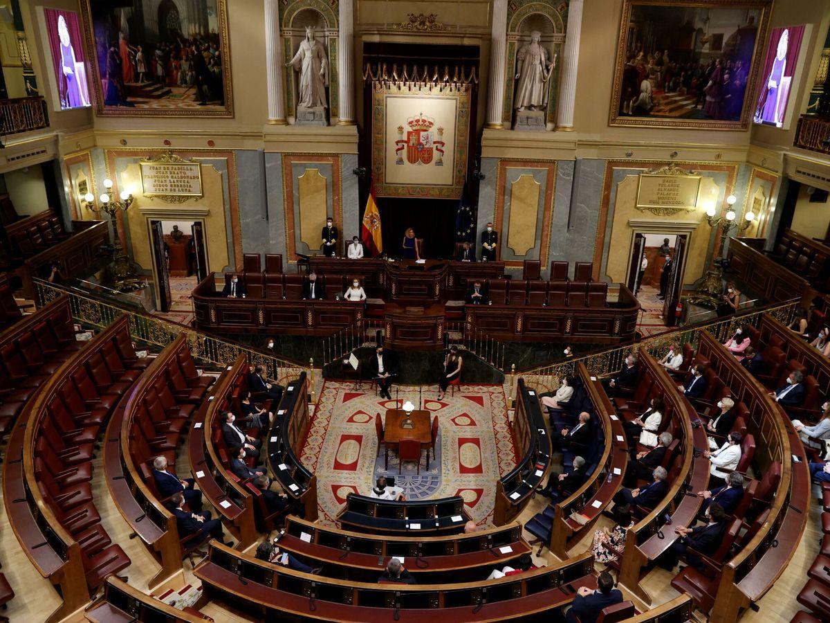 Foto: Vista general del Congreso durante el acto solemne por el Día de las Víctimas del Terrorismo. (EFE)