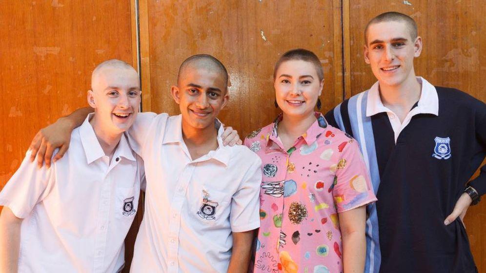 Foto: Los alumnos renunciaron a su pelo por una buena causa (Foto: Max Mason-Hubers/The Herald)