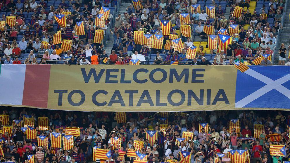 Invasión de esteladas en el Camp Nou: otro pulso independentista a la UEFA