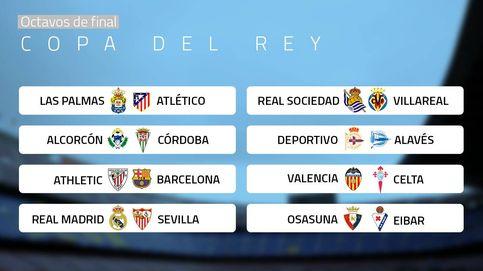 Madrid-Sevilla, Athletic-Barça y Las Palmas-Atleti, en los octavos de la Copa del Rey