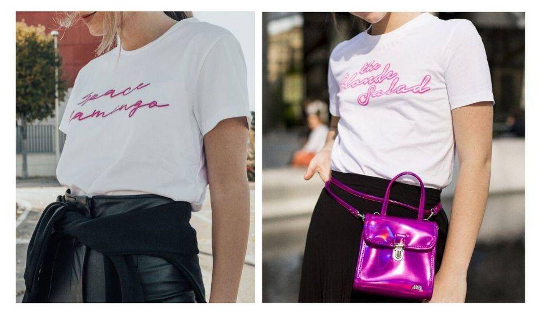 Camisetas de la colección de Paula y de la colección de Chiara Ferragni. (Cortesía)
